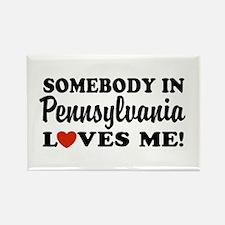 Somebody in Pennsylvania Loves Me Rectangle Magnet