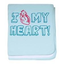 I Love My Heart baby blanket