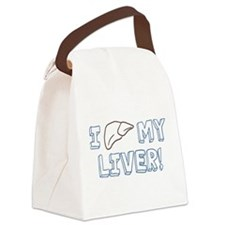 I Love My Liver Canvas Lunch Bag