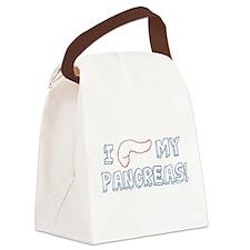I Love My Pancreas Canvas Lunch Bag