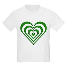 Green Striped Heart T-Shirt