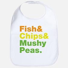Fish and Chips and Mushy Peas. Bib