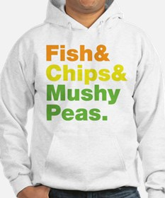 Fish and Chips and Mushy Peas. Jumper Hoody
