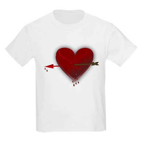 Broken Heart With Arrow Kids Light T Shirt Broken Heart