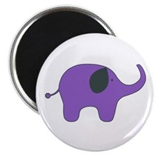 lone purple elephant Magnet