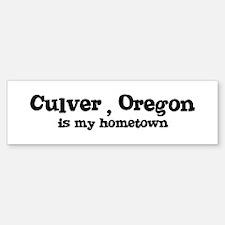 Culver - Hometown Bumper Bumper Bumper Sticker