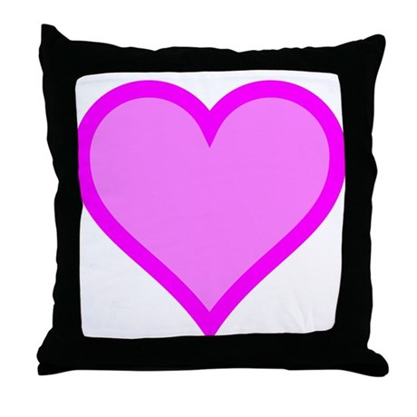 Pink Heart Throw Pillow by HeartsMeanLove