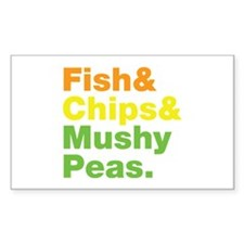 Fish and Chips and Mushy Peas. Decal