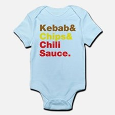 Kebab and Chips and Chili Sauce. Body Suit