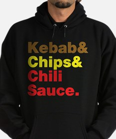 Kebab and Chips and Chili Sauce. Hoody