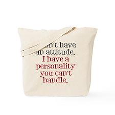 Attitude versus Personality Tote Bag