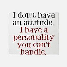Attitude versus Personality Throw Blanket