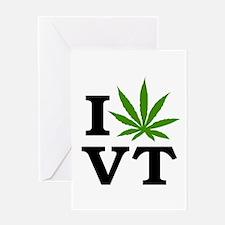 I Love Cannabis Vermont Greeting Card