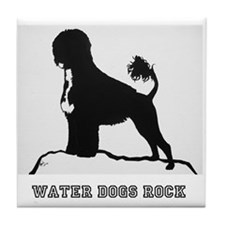 Water Dogs ROCK! Tile Coaster
