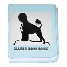 Water Dogs ROCK! baby blanket