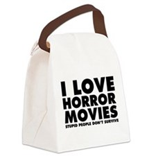 I Love Horror Movies Canvas Lunch Bag