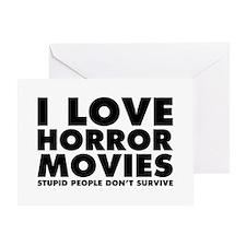 I Love Horror Movies Greeting Card