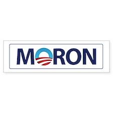 Obama Logo MORON Bumper Car Sticker