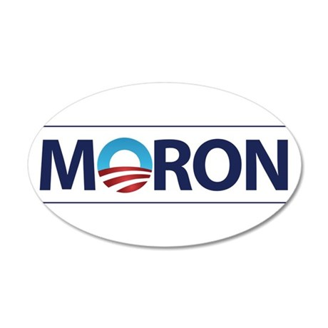 Obama Logo MORON Wall Decal