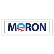 Obama Logo MORON Bumper Car Sticker