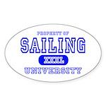 Sailing University Oval Sticker