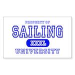 Sailing University Rectangle Sticker