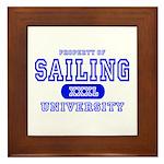 Sailing University Framed Tile