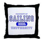 Sailing University Throw Pillow