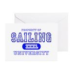 Sailing University Greeting Cards (Pk of 10)