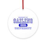 Sailing University Ornament (Round)