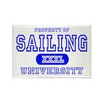 Sailing University Rectangle Magnet