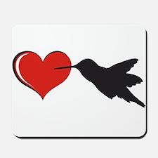 Hummingbird With Heart Mousepad