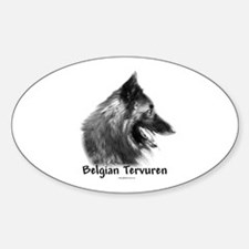Tervuren Charcoal Oval Decal