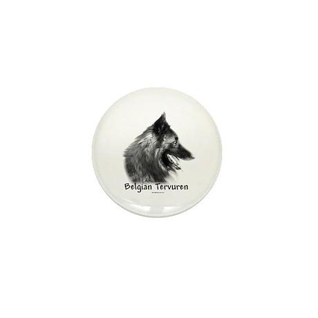 Tervuren Charcoal Mini Button