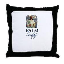 Palm Sunday Jesus Throw Pillow