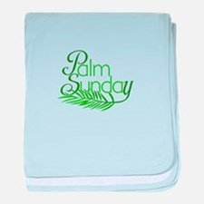 Palm Sunday Jesus baby blanket