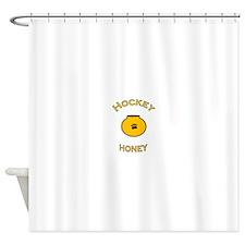 Hockey Honey Shower Curtain