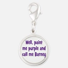 Call me Barney Silver Round Charm