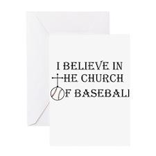 I believe in the church of baseball. Greeting Card