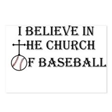 I believe in the church of baseball. Postcards (Pa