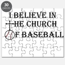 I believe in the church of baseball. Puzzle