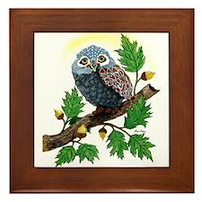 Art: Oak Tree Owl Framed Tile