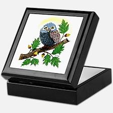 Art: Oak Tree Owl Keepsake Box