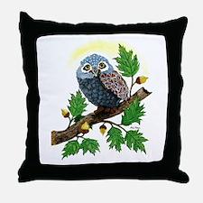 Art: Oak Tree Owl Throw Pillow
