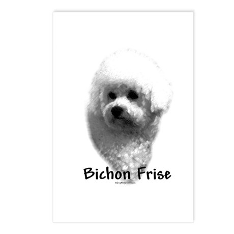 Bichon Charcoal Postcards (Package of 8)