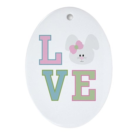 Bunny Love Ornament (Oval)