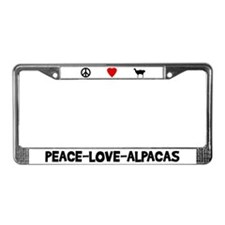 Peace-Love-Alpacas License Plate Frame