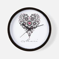 Love Mari Wall Clock