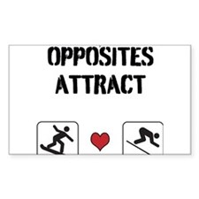 Opposites Attract ski and boarder Decal