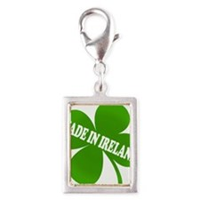 Made in Ireland Silver Portrait Charm